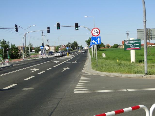 Widok z kierunku Opole-Kluczbork